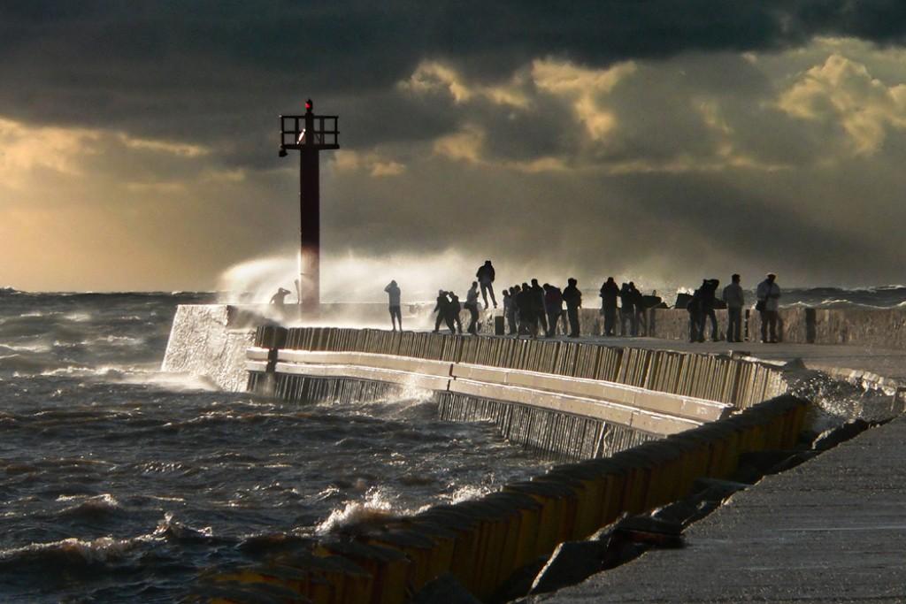 Zdjęcia: Darłówko, Zachodniopomorskie, 10 w skali Beauforta, POLSKA