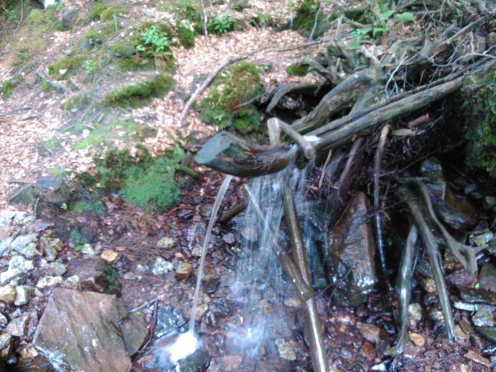 Zdjęcia: Góry Sowie, Sudety, Bieszczady- Karkonosze 2014 - drewniana rynna, POLSKA