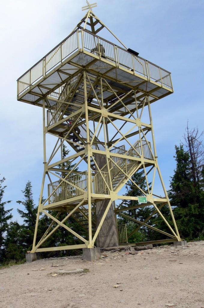 Zdjęcia: wieża widokowa na Baraniej Górze, Beskid Śląski, Na szczycie Baranie Góry -1220, POLSKA