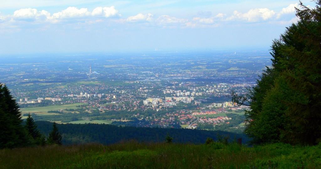 Zdjęcia: Szyndzielnia, Beskid Śląski, widok na Bielsko Białą, POLSKA