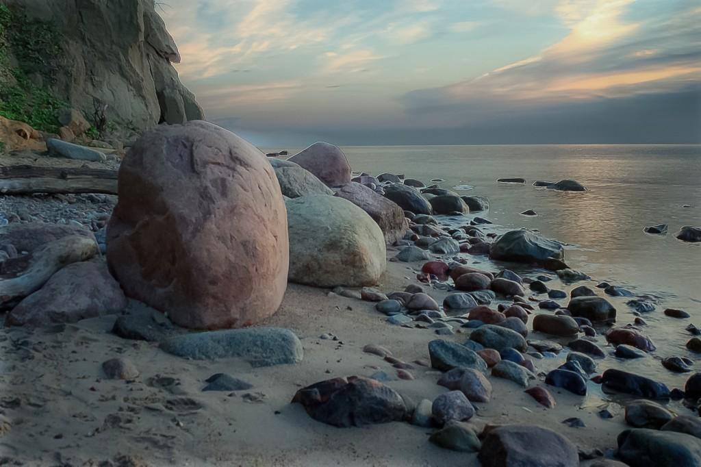 Zdjęcia: plaża Orłowo, Pomorskie, o świcie, POLSKA