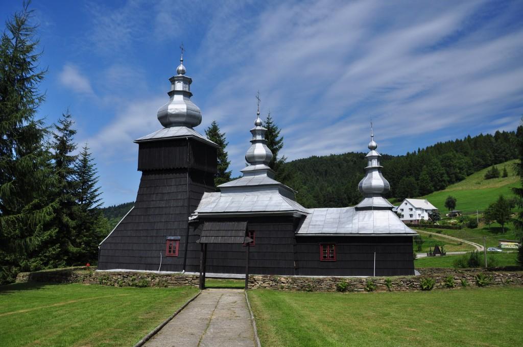 Zdjęcia: Czarna, Beskid Niski, Połemkowska cerkiew w Czarnej, POLSKA