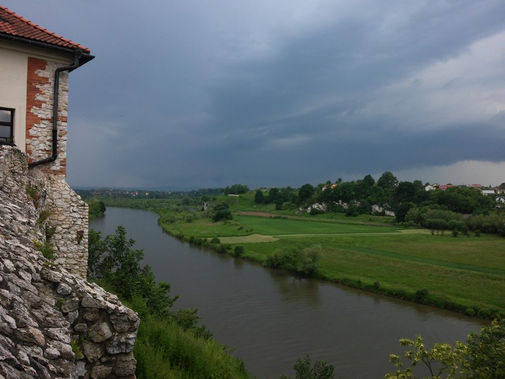 Zdjęcia: TYNIEC , małopolska, widok z klasztoru przed burzą, POLSKA