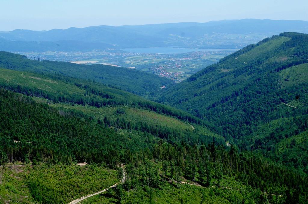 Zdjęcia: Beskid Śląski, śląskie, A w dole Żywiec, POLSKA