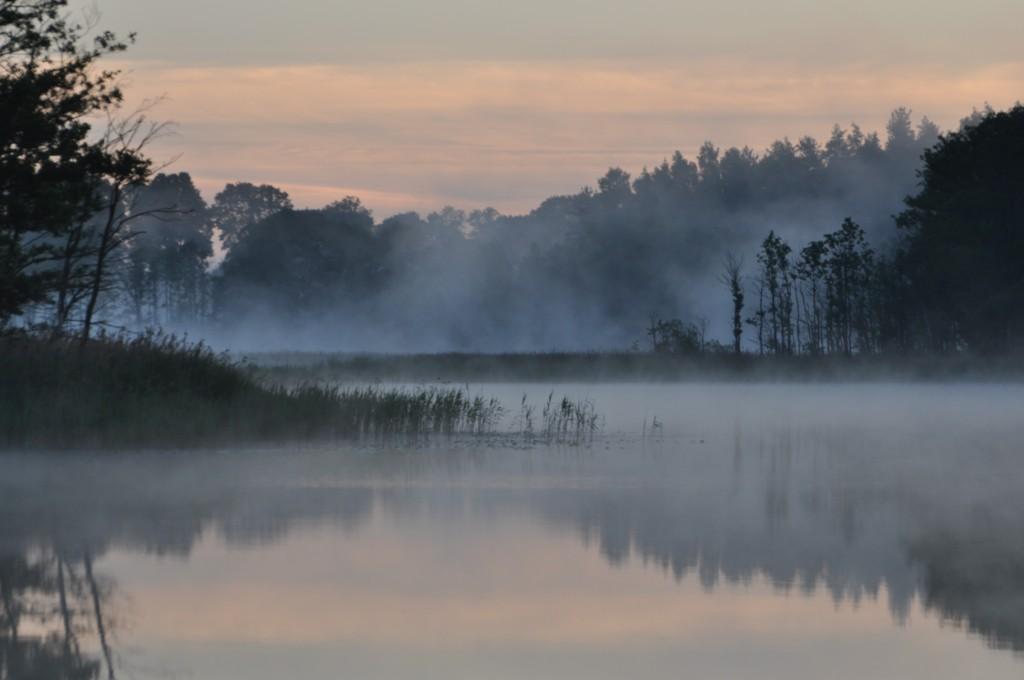 Zdjęcia: Jezioro Białe, Mazury, Świt nad Jeziorem Białym, POLSKA