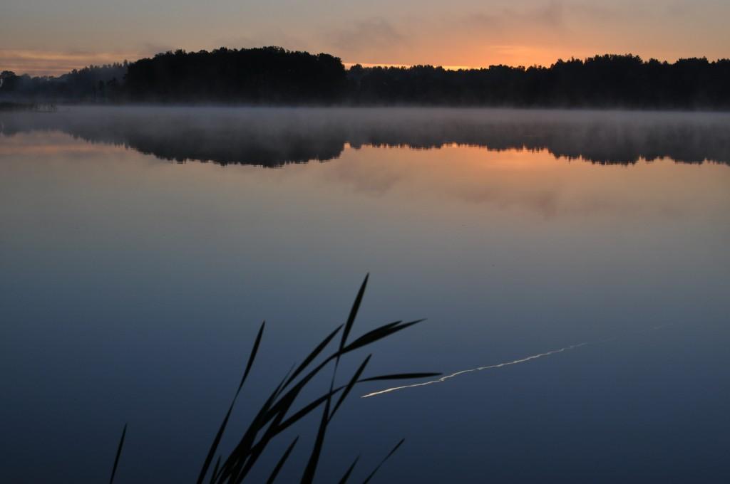 Zdjęcia: Jezioro Białe, Mazury, Poranny samolot, POLSKA
