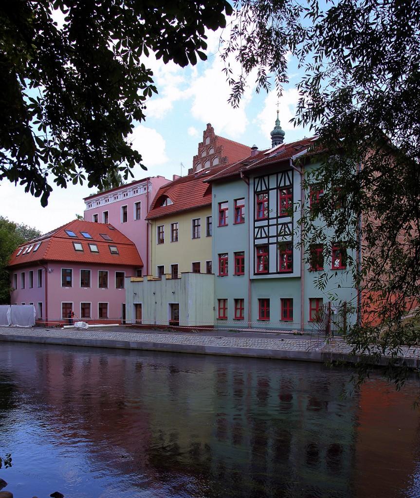 Zdjęcia: Wyspa Młyńska, Bydgoszcz, Kamieniczki nad Młynówką, POLSKA