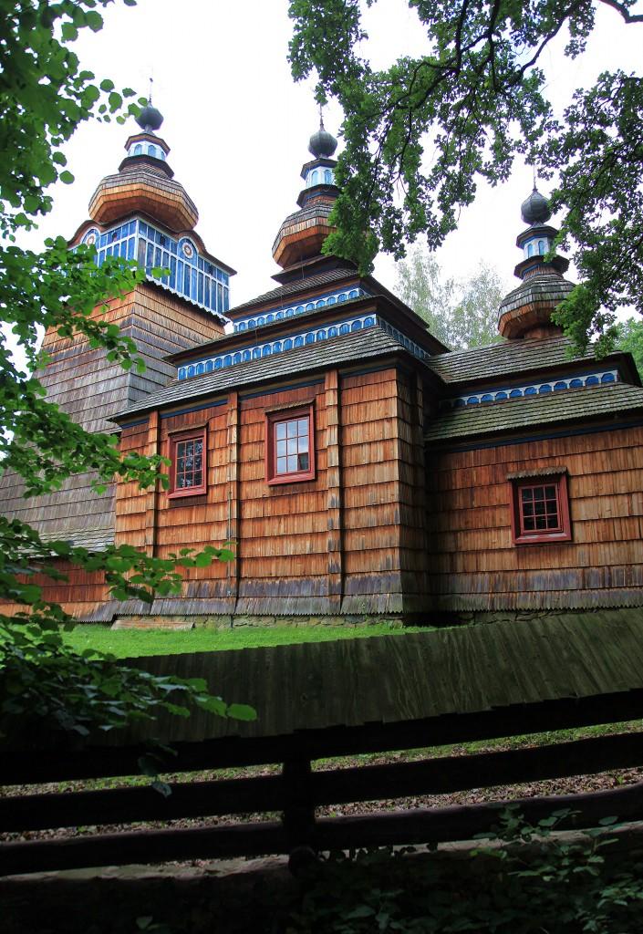 Zdjęcia: Muzeum Budownictwa Ludowego w Sanoku, Podkarpackie, Drewniana cerkiew, POLSKA