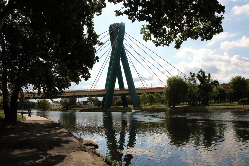 Zdjęcia: Rzeka Brda, Bydgoszcz, Most Uniwersytecki, POLSKA