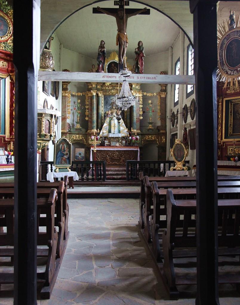 Zdjęcia: Muzeum Budownictwa Ludowego w Sanoku, Podkarpackie, Kościół rzymskokatolicki z 1667r, wnętrze, POLSKA