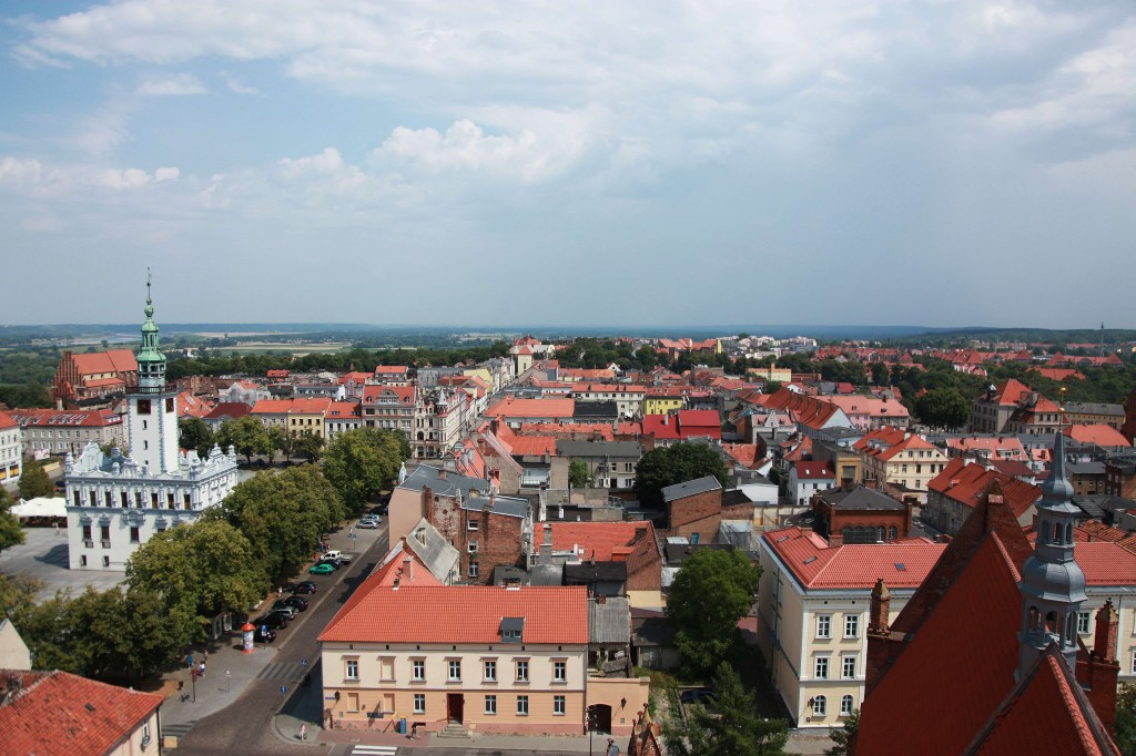 Zdjęcia: Wieża kościoła Wniebowzięcia NMP, Chełmno, Panorama miasta, POLSKA