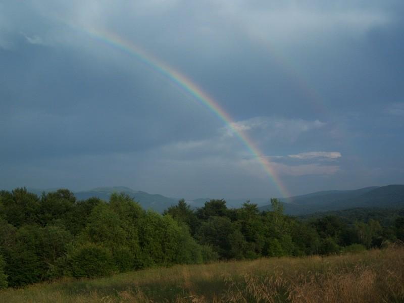 Zdjęcia: Wyrzniański Wierch, Bieszczady, Tęcza, POLSKA