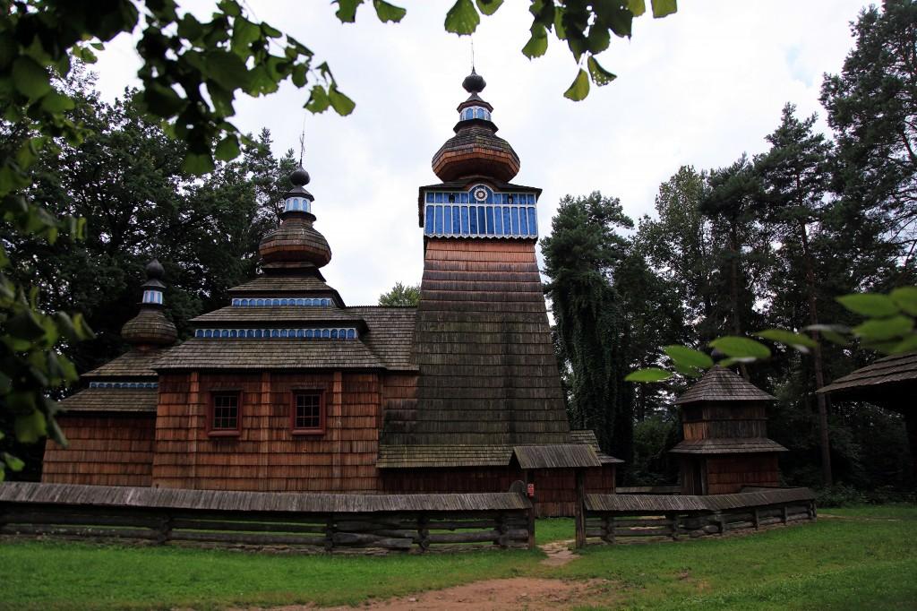 Zdjęcia: Muzeum Budownictwa Ludowego w Sanoku, Podkarpackie, Cerkiew greckokatolicka z powiatu gorlickiego, POLSKA