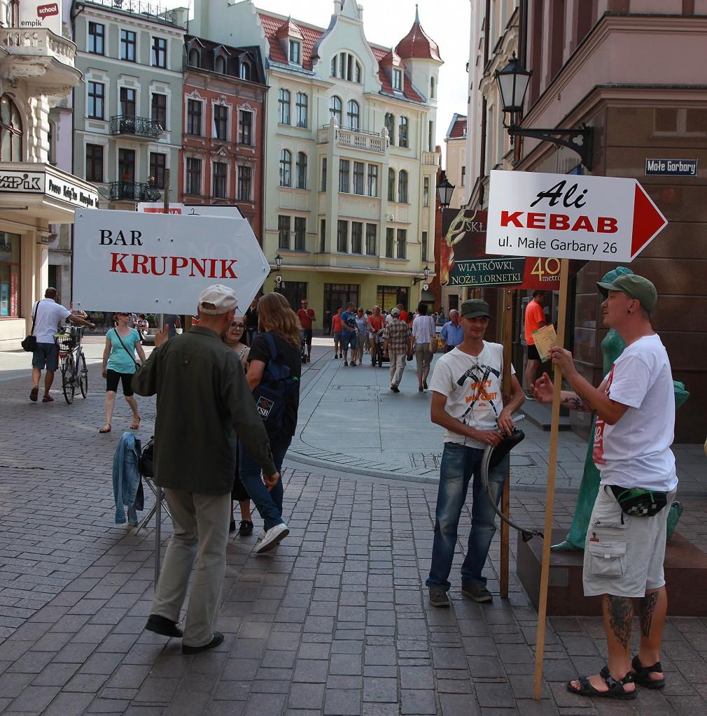 Zdjęcia: Stare Miasto, Toruń, Reklamy, POLSKA