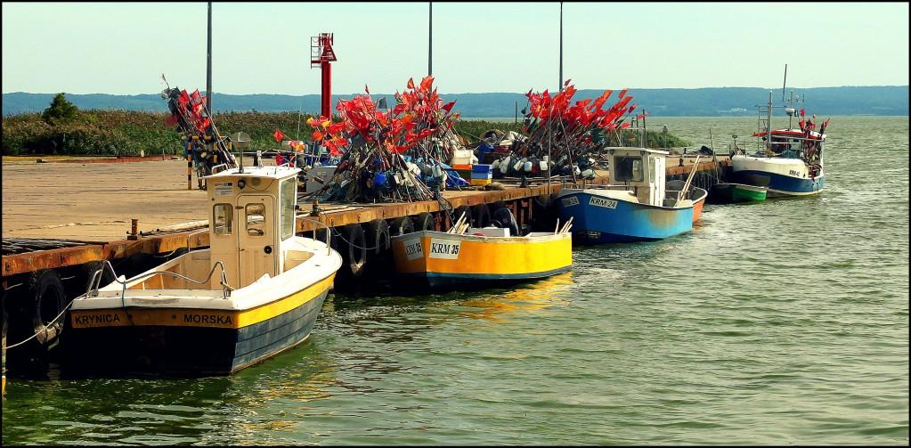 Zdjęcia: Krynica Morska - Zalew Wiślany, Pomorze, Port Rybacki, POLSKA