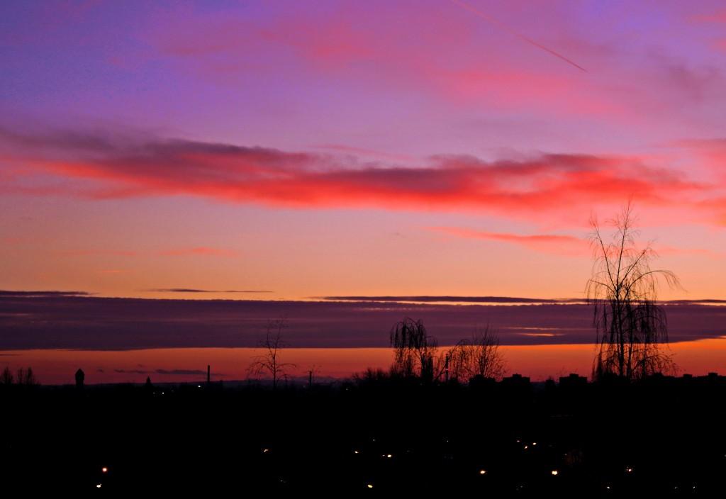 Zdjęcia: Sosnowiec, śląskie, grudniowy zachód słońca, POLSKA