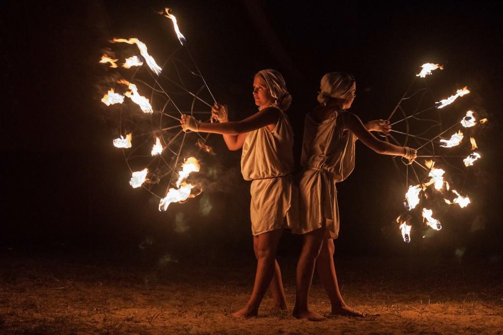 Zdjęcia: Grunwald, Warmia, Ogień i ruch, POLSKA