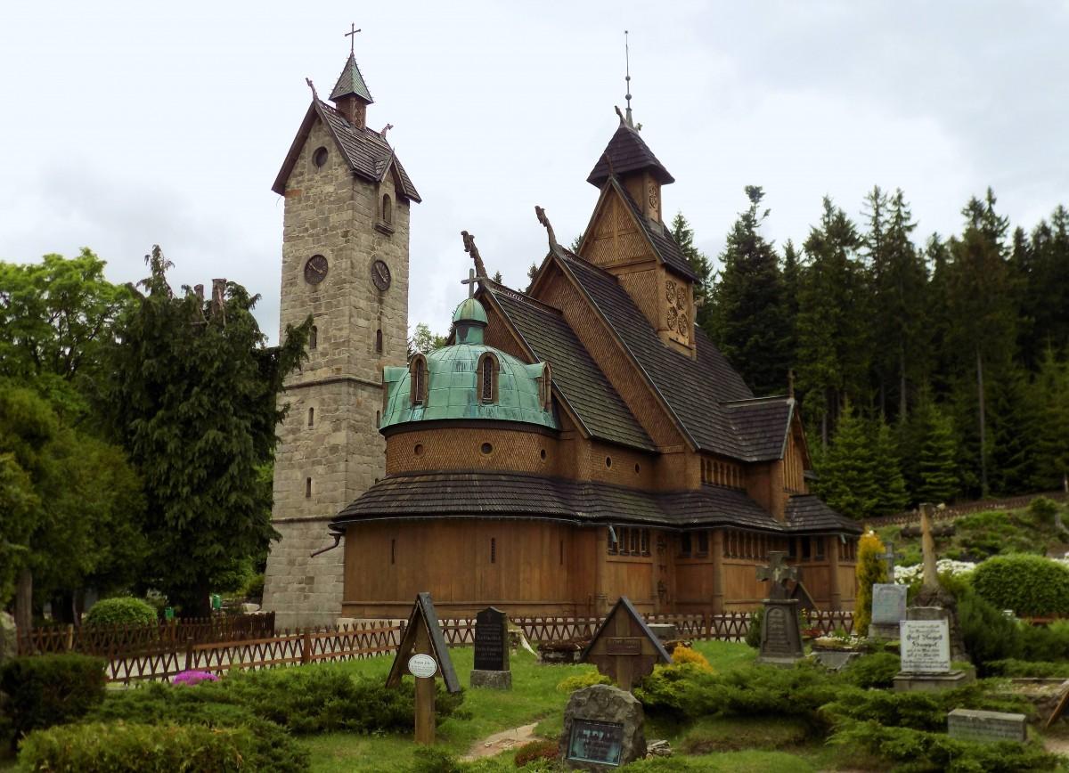 Zdjęcia: Karpacz , Karkonosze, Świątynia Wang, POLSKA