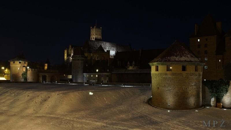 Zdjęcia: Malbork, Malbork, Malbork- zamek nocą, POLSKA
