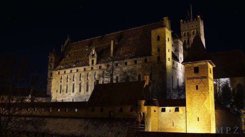 Zdjęcia: Malbork, Malbork, Malbork- zamek nocą 2, POLSKA