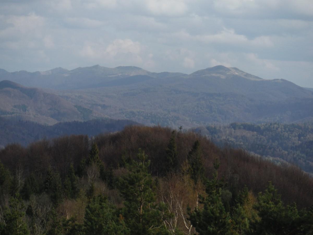 Zdjęcia: Korbania, Bieszczady, Panorama z Korbani, POLSKA