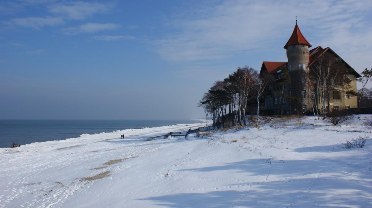 Zdjęcia: Łeba, Pomorze, Łeba zimą, POLSKA