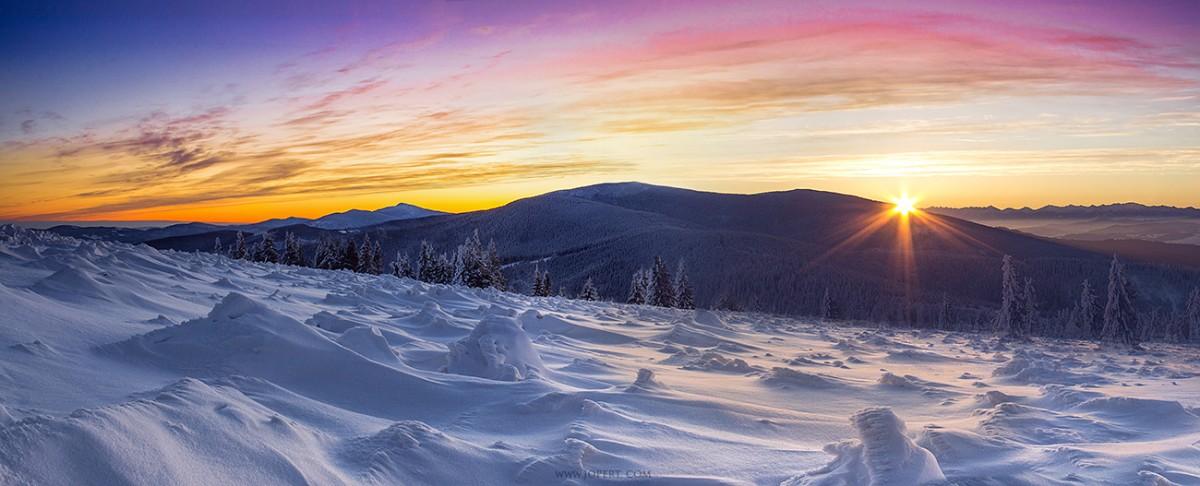 Zdjęcia: Hala Rysianka, Beskidy, Wchód słońca w Beskidach, POLSKA