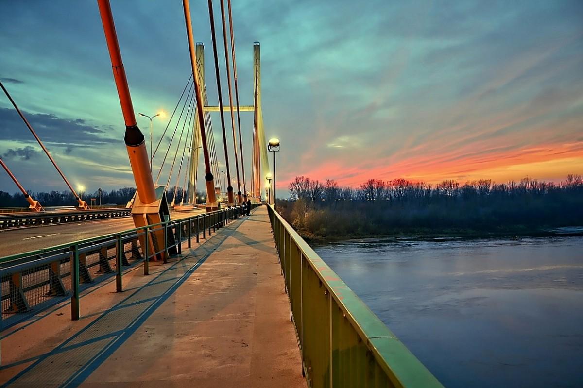 Zdjęcia: Warszawa, mazowsze,  Most Siekierkowski, POLSKA