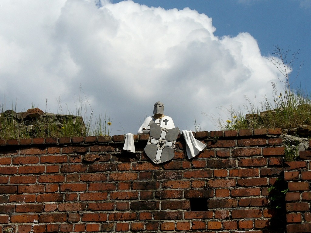Zdjęcia: Toruń, kujawsko pomorskie, Rycerz na murach, POLSKA