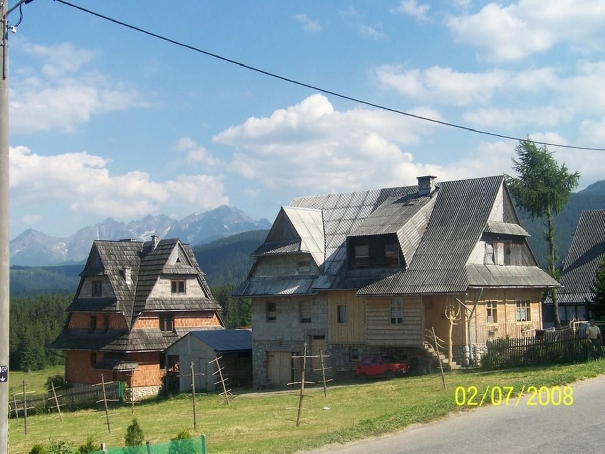Zdjęcia: Murzasichle , Murzasichle - widok na Tatry, POLSKA