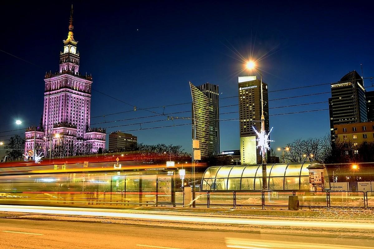 Zdjęcia: Warszawa, mazowsze, nocą, POLSKA
