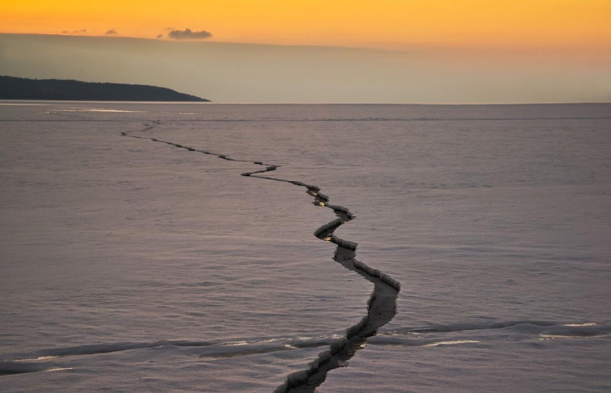 Zdjęcia: Frombork  , warmia , zimowy zmierzch  na zalewie  Wiślanym, POLSKA