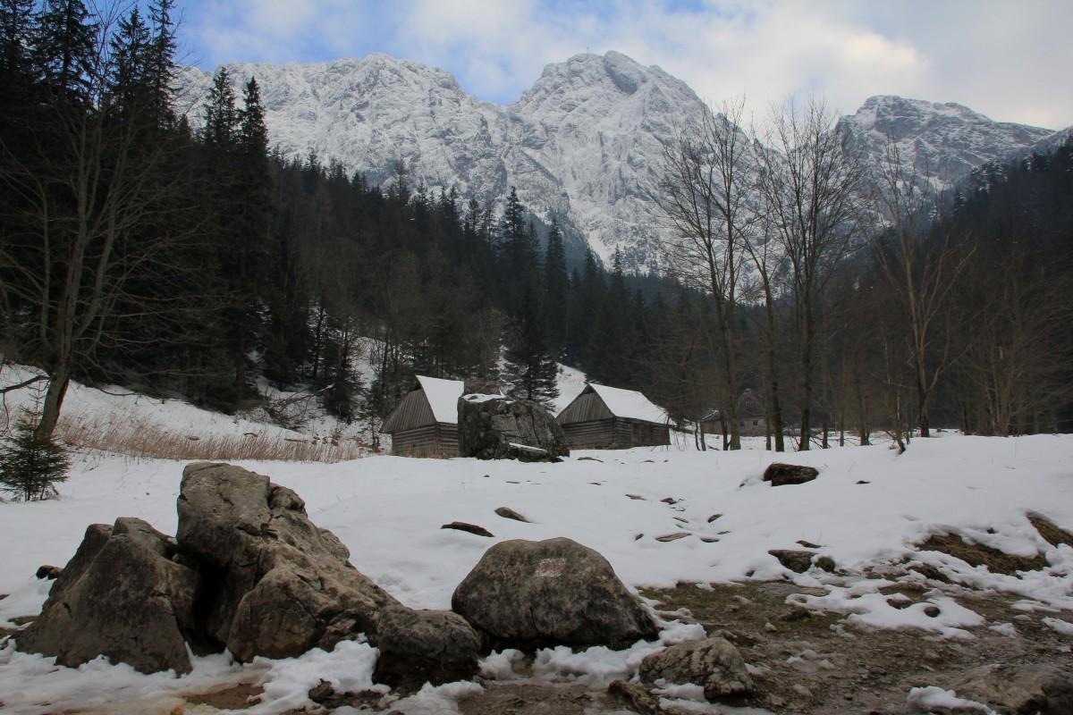 Zdjęcia: Dolina Strążyska, Tatry, Z Giewontem w tle, POLSKA