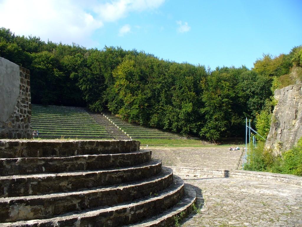 Zdjęcia: Góra Świętej Anny, opolskie, Widok na kamienny amfiteatr, POLSKA