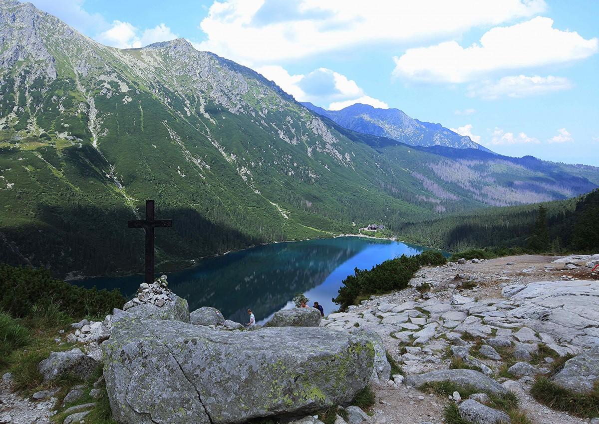 Zdjęcia: Czarny Staw pod Rysami, Tatry, Krzyż, POLSKA