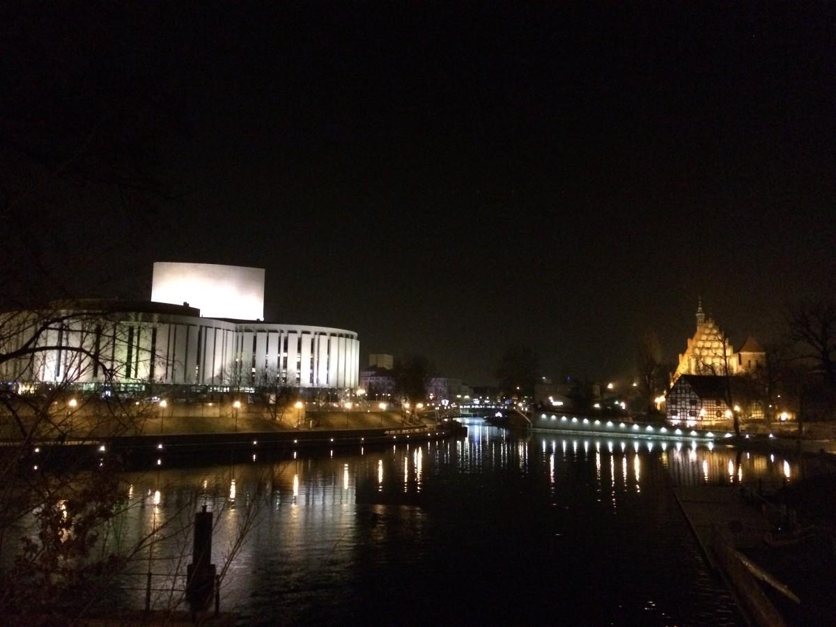 Zdjęcia: Bydgoszcz, Kujawski-pomorski, Noc nad rzeką Brdą, POLSKA