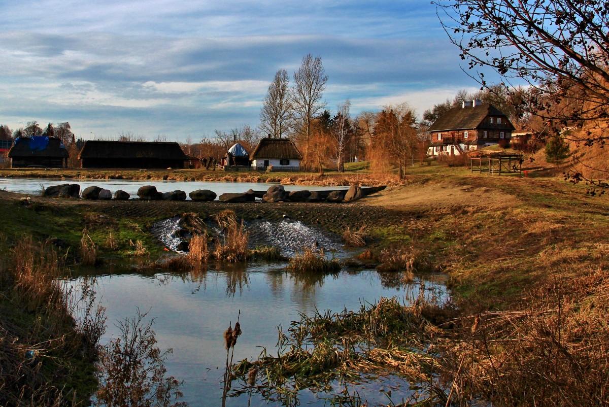 Zdjęcia: Skansen Lubelski, lubelskie, Pejzaż styczniowy, POLSKA