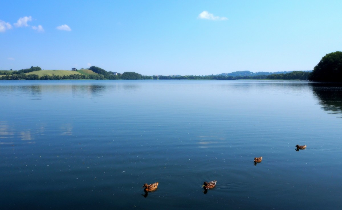Zdjęcia: jezioro Kłodno, Pojezierze Kaszubskie, przepychać się nie trzeba..., POLSKA
