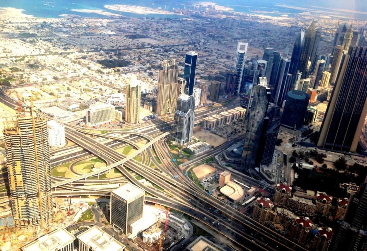 Zdjęcia: Burj Khalifa, Dubaj, Widok na Dubaj z Burj Khalifa, POLSKA