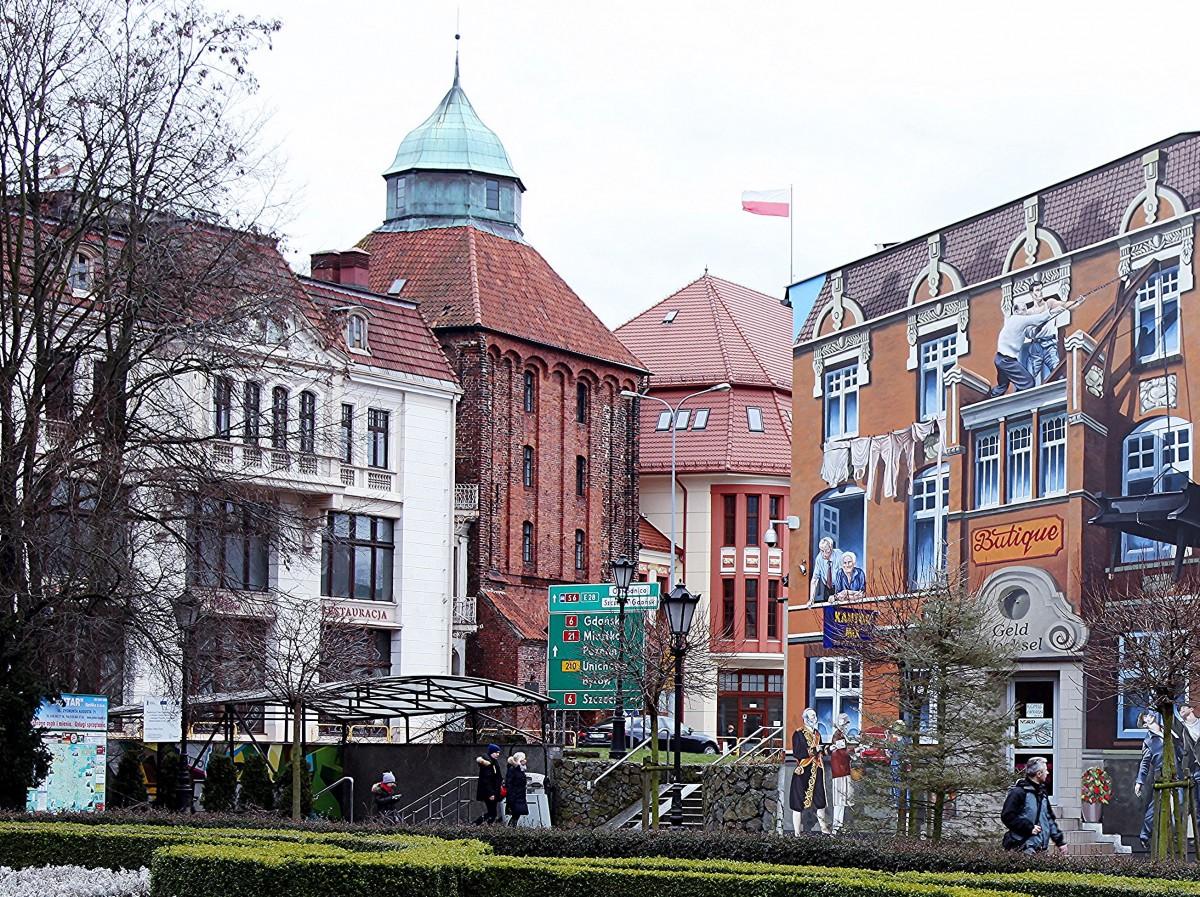Zdjęcia: Skwer Pierwszych Słupszczan, Słupsk, Kamieniczki, POLSKA