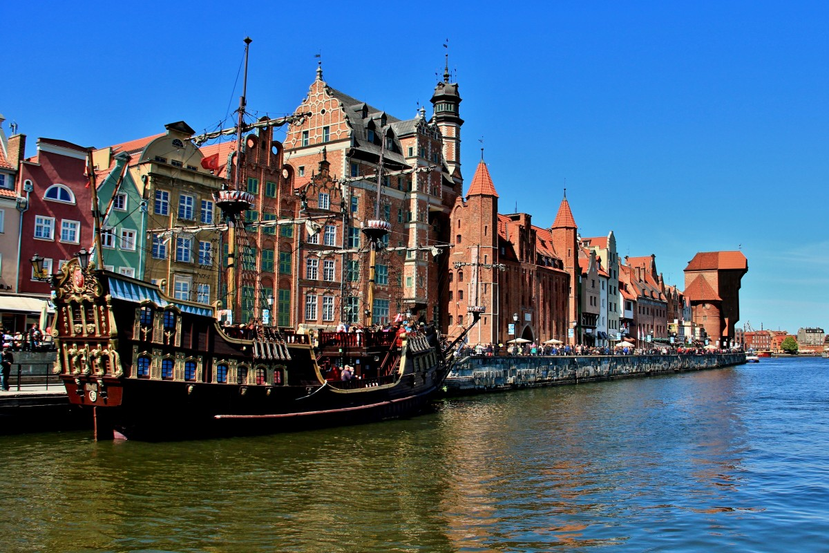 Zdjęcia: Gdańsk, woj. pomorskie, Nad Motławą, POLSKA