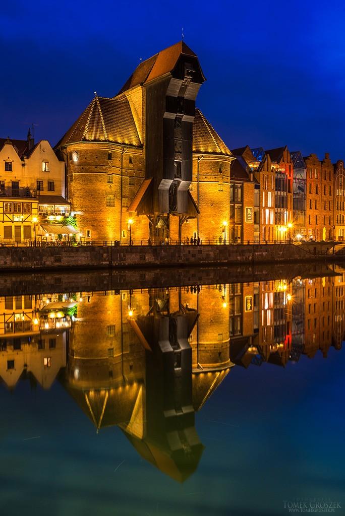 Zdjęcia: Gdańsk, pomorskie, Wieczór nad Motławą, POLSKA