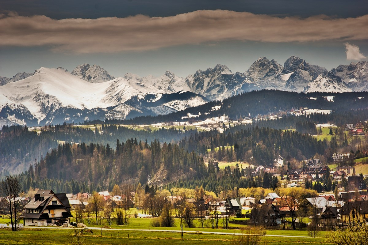 Zdjęcia: Czarna Góra, Podhale, widok z Litwinki, POLSKA