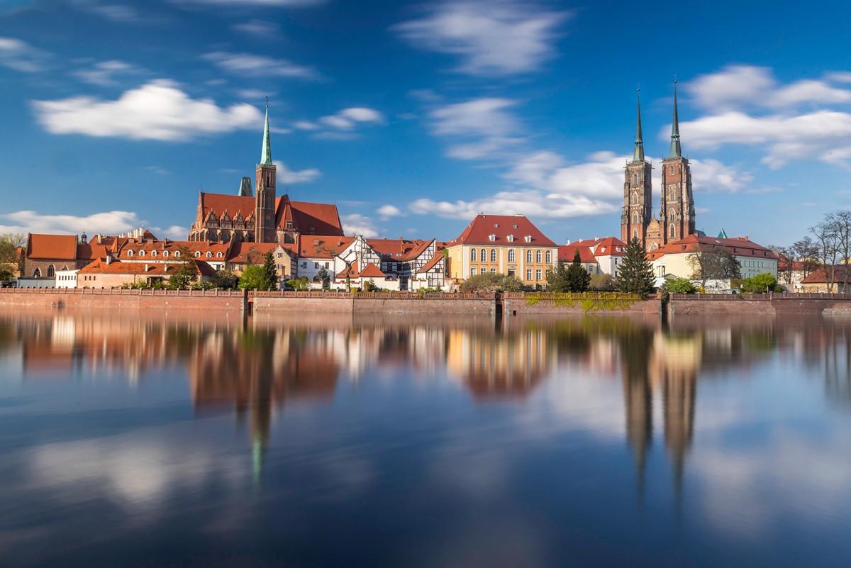 Zdjęcia: Wrocław, dolnośląskie, Popołudnie nad Odrą, POLSKA