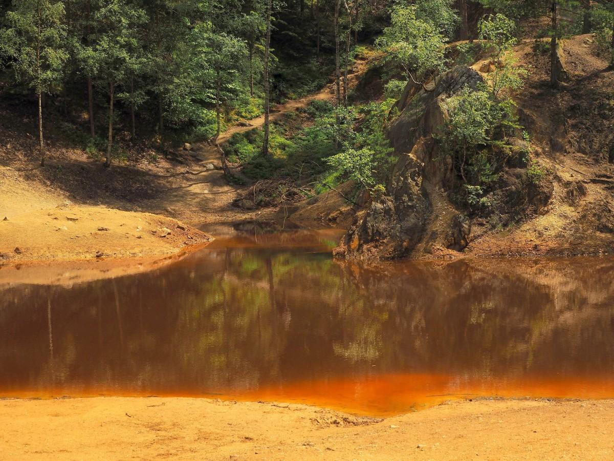 Zdjęcia: Kolorowe Jeziorka, w pobliżu wsi Wieściszowice, Dolny Śląsk, Rudawy Janowickie, magia kolorów....., POLSKA
