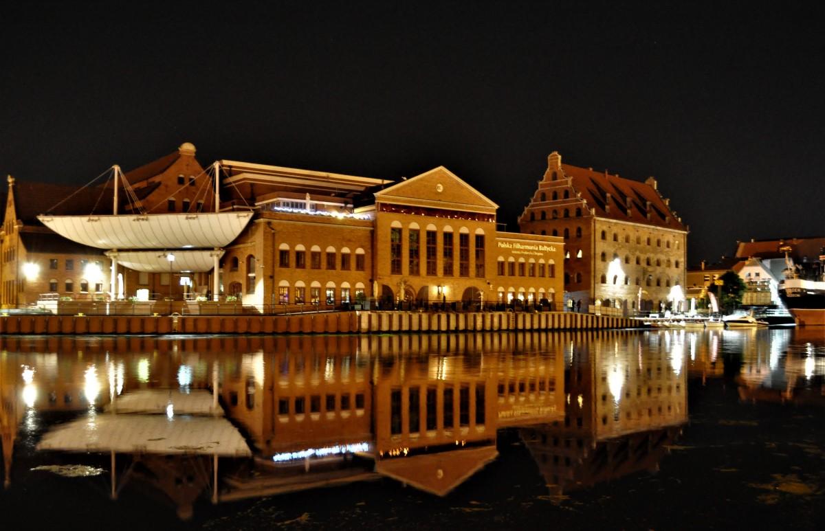Zdjęcia: Gdańsk, Pomorze, Gdańsk nocą, POLSKA