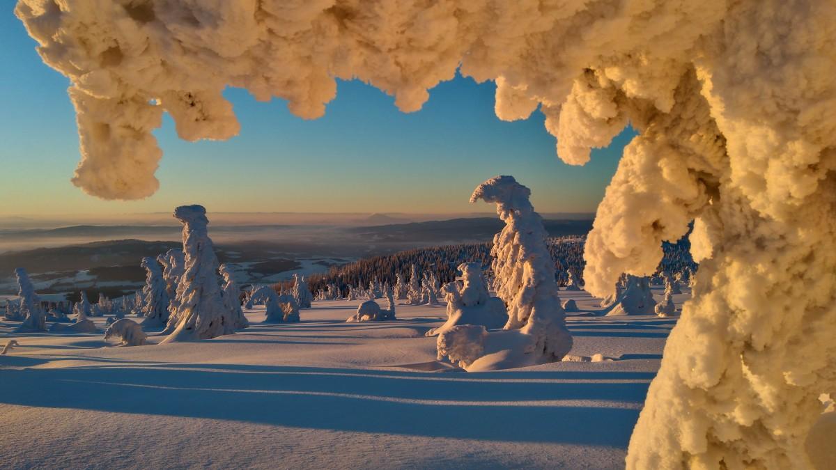 Zdjęcia: pilsko, beskidy, pod szczytem o wschodzie, POLSKA