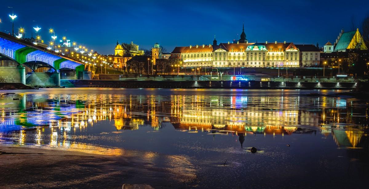 Zdjęcia: Warszawa, mazowsze, nocą II, POLSKA