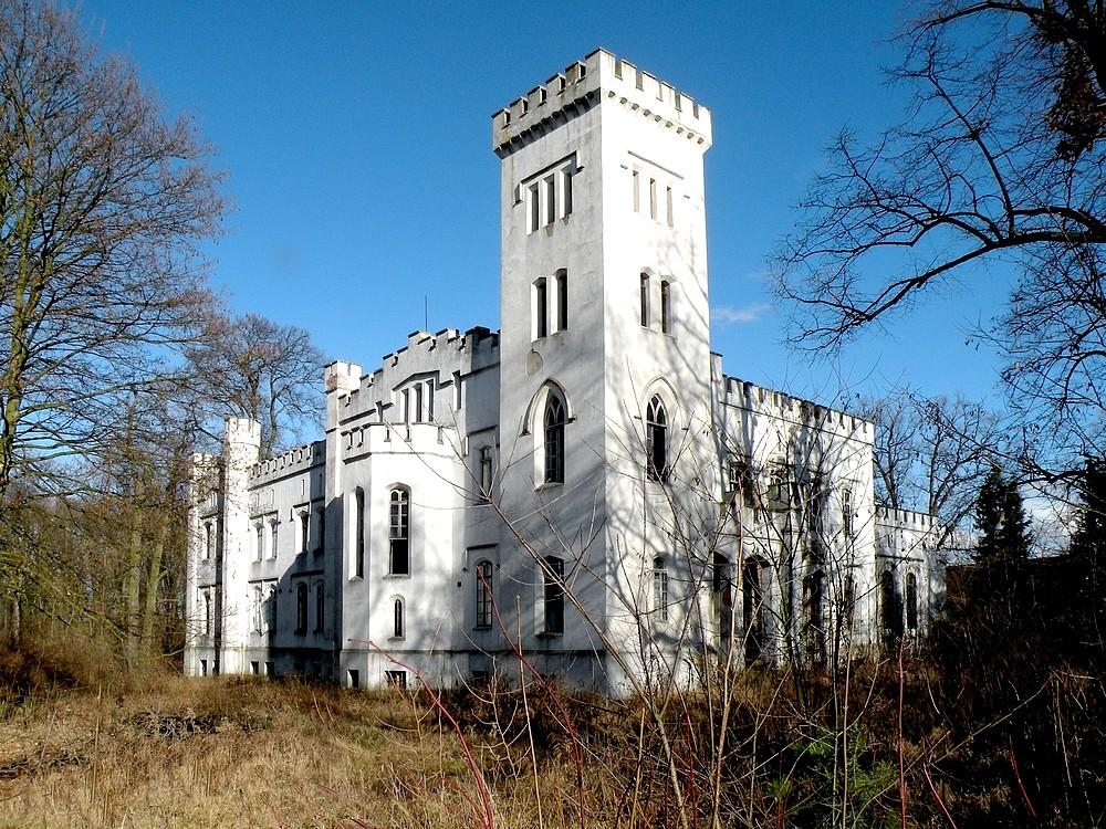 Zdjęcia: Łączany, opolskie, Pałac w stylu gotyku angielskiego, POLSKA