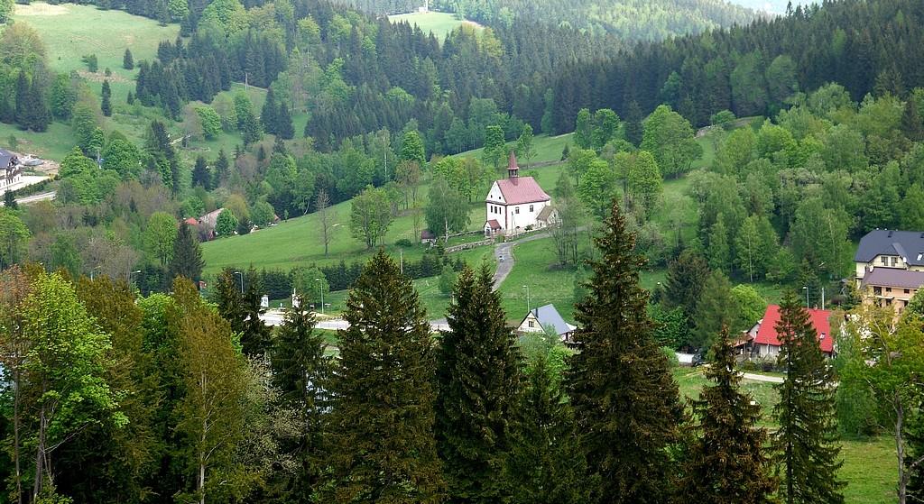 Zdjęcia: Sienna, dolnośląskie, Widok na miejscowość, POLSKA